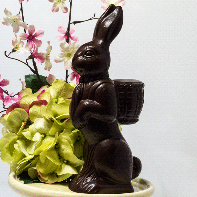 Thats One Decadent Easter Bunny >> Big Chocolate Easter Bunny Gabriella Chocolates Confections