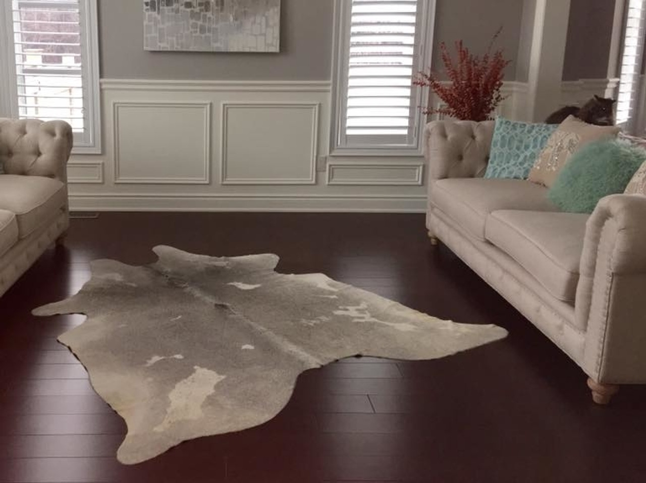 Large Cow hide Area Rug