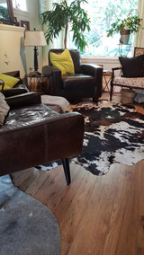 Unique and exotic Brazilian cowhide rugs
