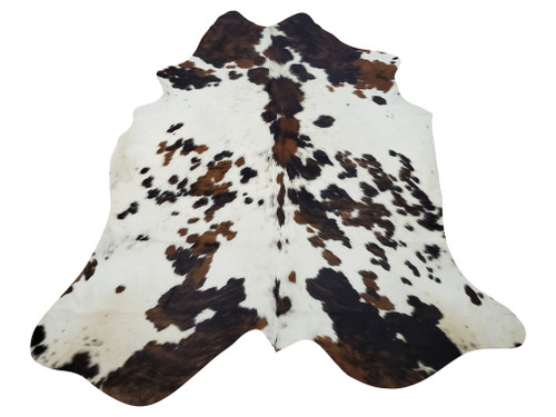 If you are wondering how to place a dark cowhide rug in your basement or living room, this would look great under a coffee table or for entryway decor, we wont be shy to try it in fireplace room.
