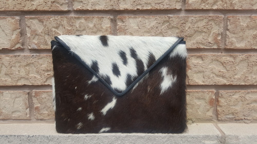 Large Hair On Cowhide Clutch Purse