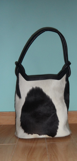 Cow Hide Purse brown and white