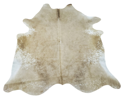 Brazilian beige white cowhide rug works wonder in any space in your house, one a kind and beautiful with a luxurious touch.