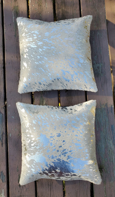 Our new natural cowhide pillow covers are great for sofa set or living room