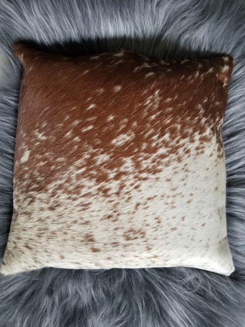 Salt Pepper Cow Hide Pillow Cover