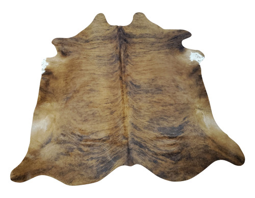 You will love this tan grey cowhide rug, no shedding or any smell, it will add a lot of character to your living room and big enough in front on fireplace