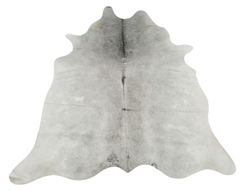 This new solid light gray cowhide rug is an extra statement piece, it will look stunning in your dining room, it will make it cozy and warm with a touch of chic.