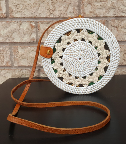 white round rattan bag with free shipping perfect for beach.