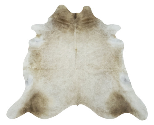 A new Brazilian large beige cowhide rug for any space from rustic or Scandinavian, these are very easy to clean and maintain