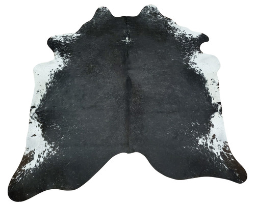 Very beautiful Brazilian black and white cowhide rug handpicked for exotic pattern, very soft touch and natural, these cowhides are perfect for any living room and decor
