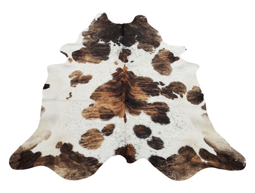 You can use this giant cowhide rug in your living room or master bedroom, beautiful sheen with a mix of spotted darker brown and black, natural and real