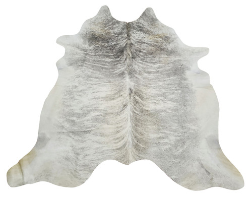 This xxl cowhide rug is exotic and unique with brindle pattern with hints of grey for your kitchen or dining room