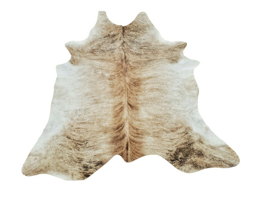 A stunning cowhide rug with beautiful deep chevron with darker shade on the edges makes a great place in living room.