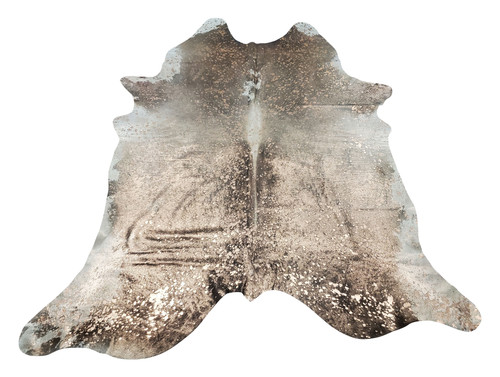 This dark metallic cowhide rug will be a stunning and cozy addition to you living room and inspiration to others.