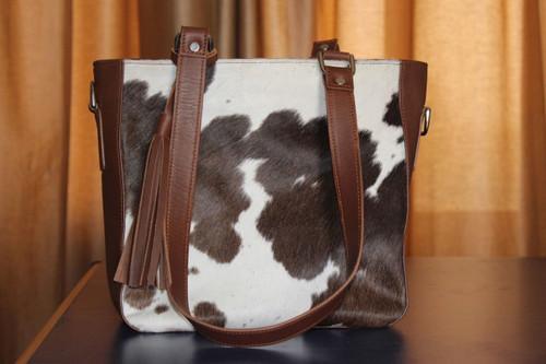 cowhide messenger bag custom and handmade