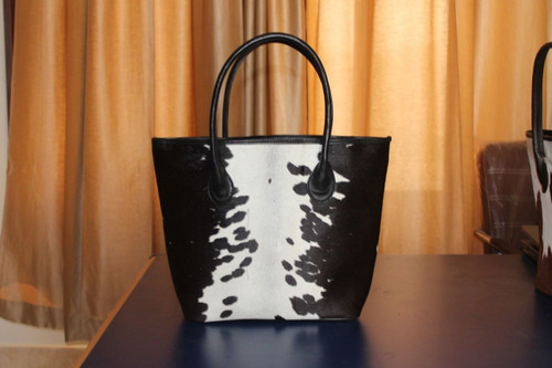 Real Cowhide Fur Hand bag made from natural cow hide perfect for outdoors.
