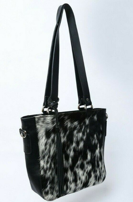 women cow fur bag