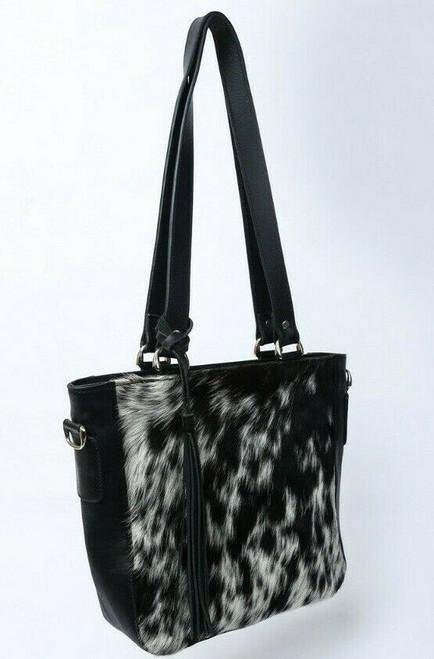 women cow fur bag