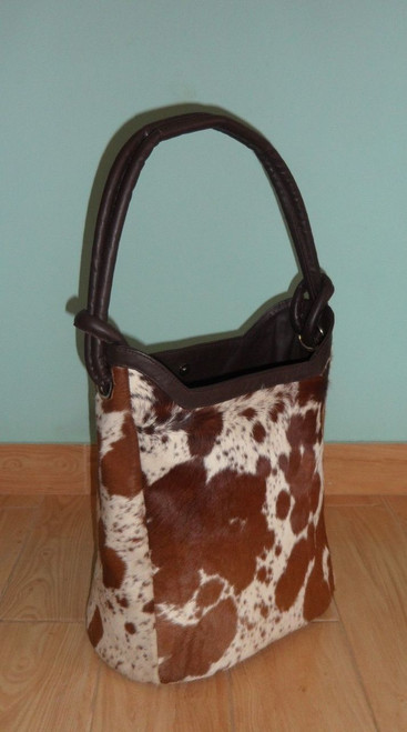 Large Cowhide Bucket Bag Purse