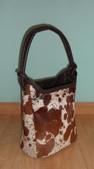 Large Cowhide Bucket Bag Purse