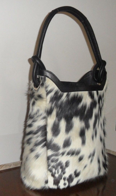 Black And White Cowhide Handbag