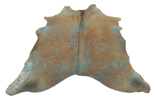 blue turquoise cowhide rug hand picked from brazil, very soft hairs on, hundred percent natural, this blue cowhide rug will be perfect for any room.