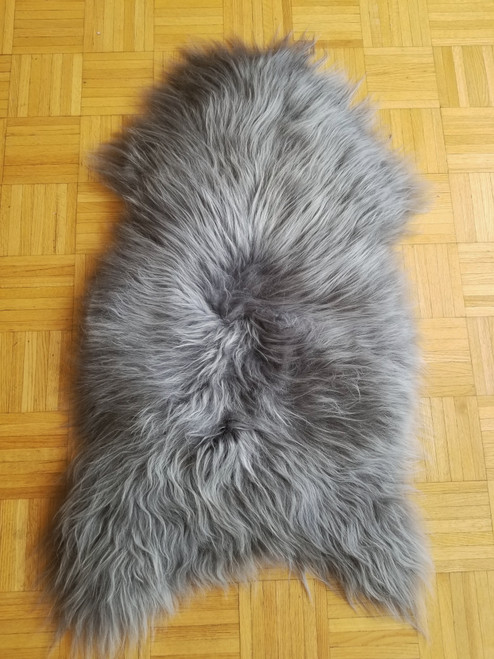 Genuine Natural Icelandic Dyed Grey Sheepskin Rug