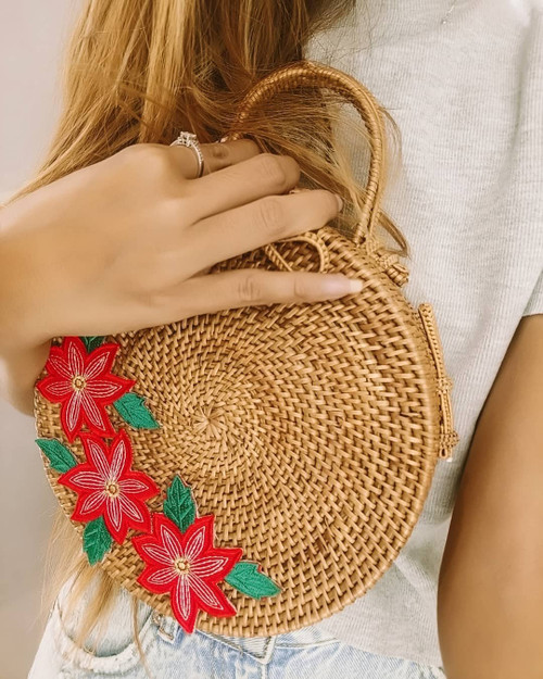 rattan beach boho bags