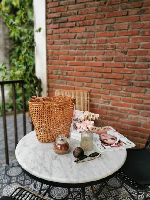 Rattan Shopper Bag Made In Bali Handwoven