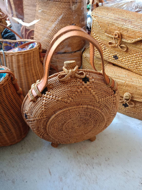 Round Rattan Bag Japan