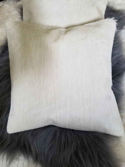 Our new white pillow cases made from real cowhide very soft and cozy.