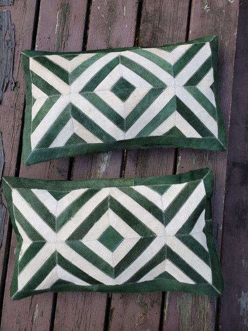 Dyed Patchwork Cowhide Cushion Cover