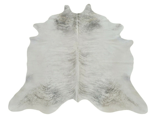 A beautiful cowhide rug with soft texture and natural alluring design give this taupe white rug an artistic look.