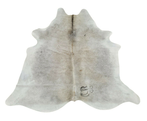Small Gray Cowhide Rug 77 X 71 Inches