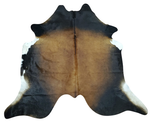 Rodeo style cowhide rug in dark brown and white, this natural and real cowhide will look gorgeous in bedroom