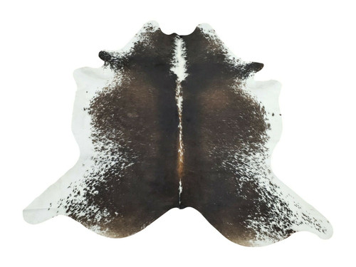 An amazing cowhide rug in speckled pattern, very soft and plushy, makes your room cozy and gives a western touch.
