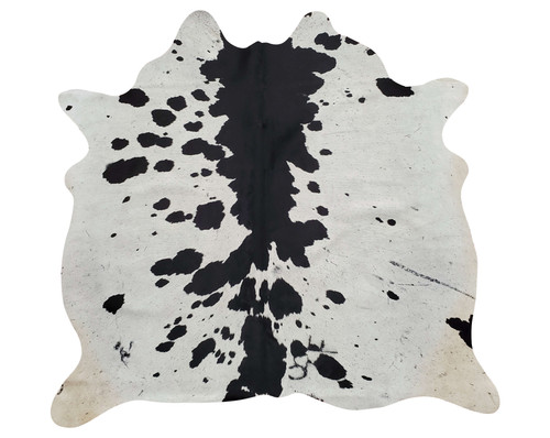 This beautiful spotted black white is the classic colour collection, surround yourself with our extra small cowhide rug is unique, real and natural.