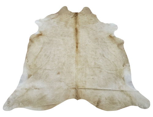 This large light palomino cowhide rug is a breeze, it will beat your expectation, the natural and real mix is just so perfect and soft.