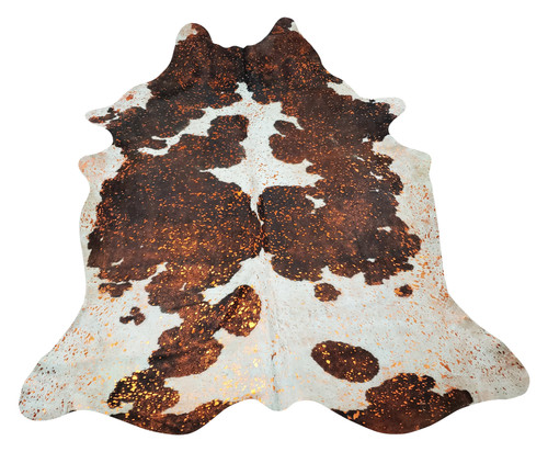 This pink metallic cowhide rug is a perfection addition to home decor and soft and smooth touch will fit in any space from home office to kitchen table.