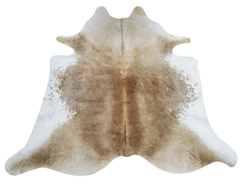 Absolutely beautiful natural beige brown cowhide rug, complements any western or modern interior very well