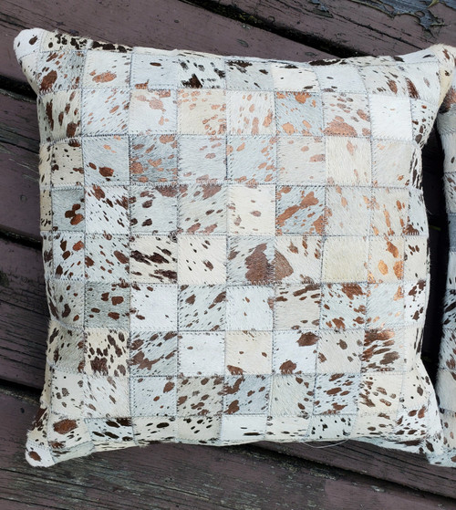 Stunning cowhide pillow covers for your Canadian farmhouse, free and fast shipping
