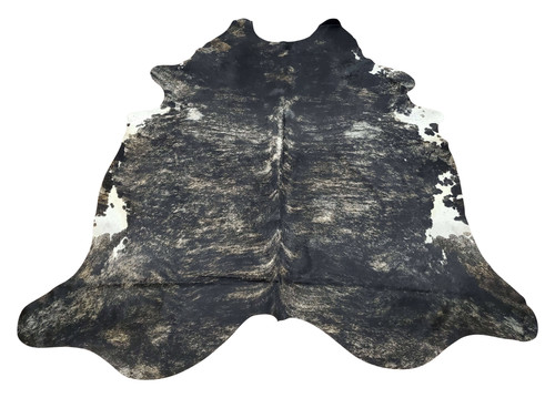 Deep shine, finely made and handpicked dark grey brindle cowhide rugs are perfect for any space, these are great for mancave or high traffic space.