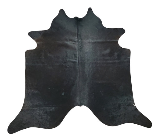 This extra small cowhide rug in a solid black shade is vibrant and charming, it will enhance the look of any setting and give it a unique touch.