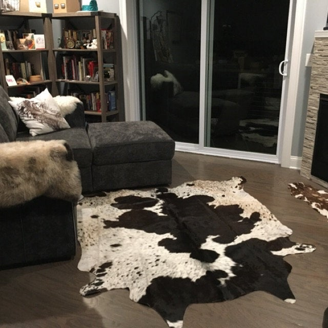 One of its kind Cowhide rug in Toronto with free shipping, very soft and velvety feel.