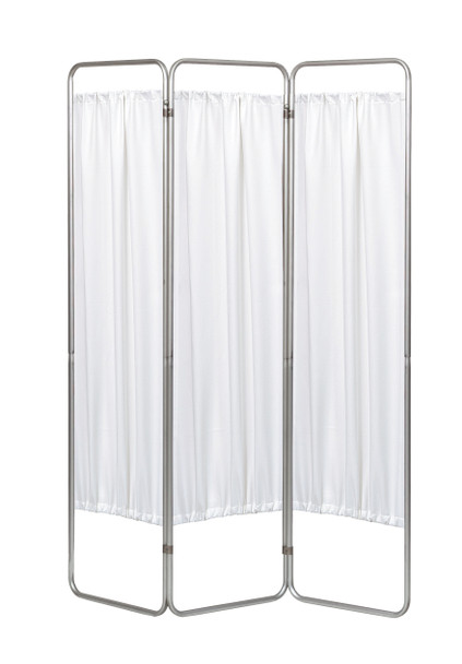 3 Panel Medical Privacy Screen in White