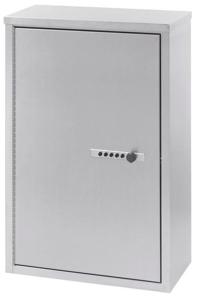 "Double Door Narcotic Cabinet W Combo Lock & 4 Shelves (24""H X 16""W X 8""D)"