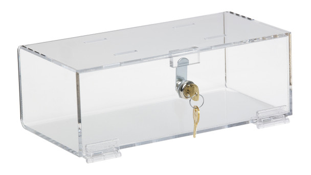 Clear Acrylic Refrigerator Lock Boxes (Multiple Size & Lock Options Available)