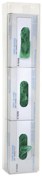 Triple Clear PETG Vertical Glove Box Holder (305352-1)
