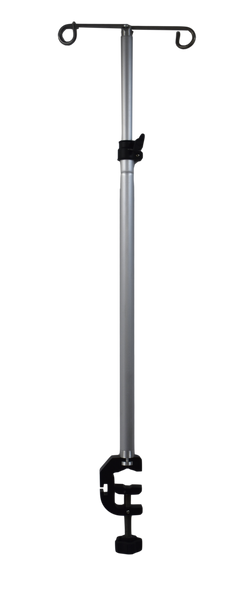 Mobile I.V. Pole with Adjustable Clamp