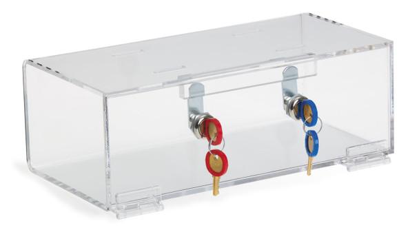 Double Lock Clear Acrylic Refrigerator Lock Box